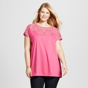 Tops - Women's Plus Size Cold Shoulder Shoulder Burnout T